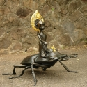 19-04Contemplative Peter Pan Bodhisattva Rides on Stag Beetle-2