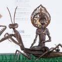 19-08Contemplative Peter Pan Bodhisattva Rides on Tenodera Aridifolia-2